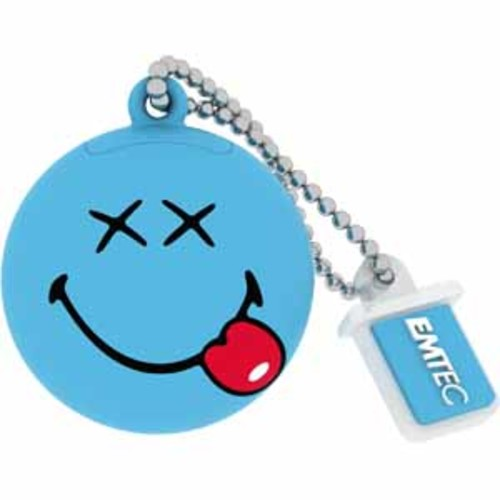 Emtec 8GB Smiley 3D Rubber Design - Blue