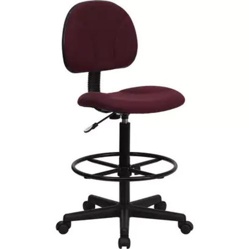 Silkeborg Burgundy Fabric Drafting Chair