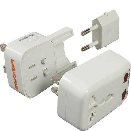 Travelon 19658-80 Worldwide Adapter And USB Charger - White