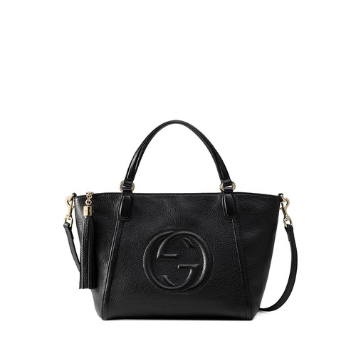 GUCCI Soho Small Crossbody Tote Bag, Black