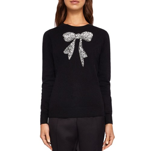 TED BAKER Bowsi Bow Embellished Sweater