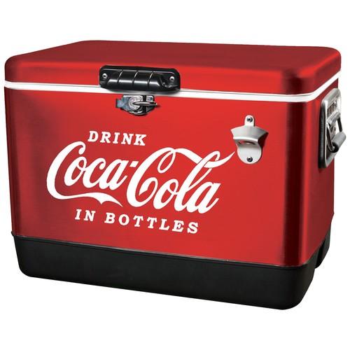 Koolatron 54 Qt. Stainless Steel Coca-Cola Ice Chest Cooler