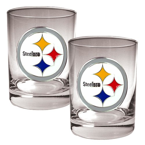 Pittsburgh Steelers 2-pc. Rocks Glass Set