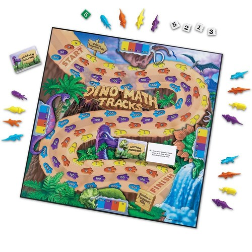 Learning Resources Dino Math Tracks Game [1]