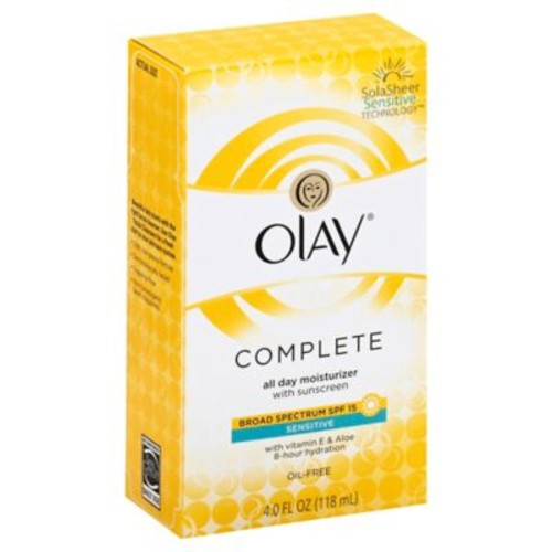 Olay 4 oz. Complete All Day Moisture Lotion Broad Spectrum SPF 15 for Sensitive Skin
