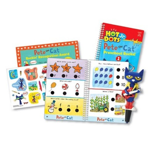 Educational Insights Hot Dots Jr. Pete The Cat Preschool Rocks! Card Set with Pen