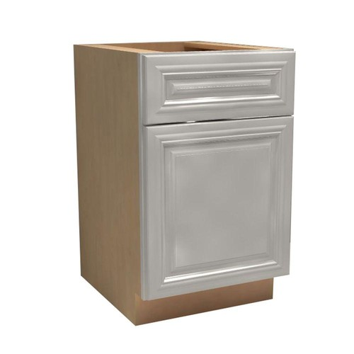 Home Decorators Collection Coventry Assembled 12x34.5x21 in. Single Door & Drawer Hinge Right Base Vanity Cabinet in Pacific White