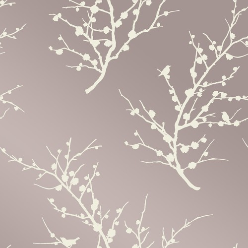 Edie Self Adhesive Wallpaper in Champagne design by Tempaper