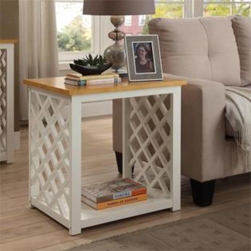 Convenience Concepts Cape Cod End Table in White
