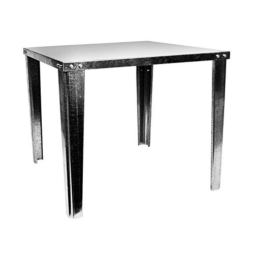 Oatey 34057 Galvanized Water Heater Stand, 21-Inch Square by 18-Inch High