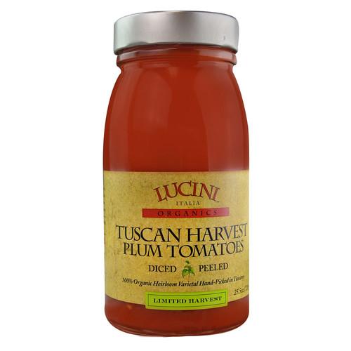 Lucini Italia Organics Tuscan Harvest Plum Tomatoes -- 25.5 oz