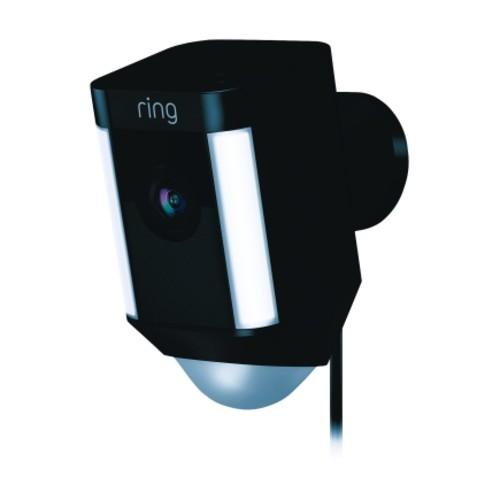 Ring Wi-Fi Security Camera Spotlight Black