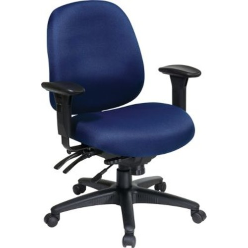 Office Star WorkSmart Fabric Mid Back Task Office Chairs with Seat Slider