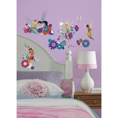 RoomMates Disney Fairies - Best Fairy Friends Peel and Stick Wall Decals