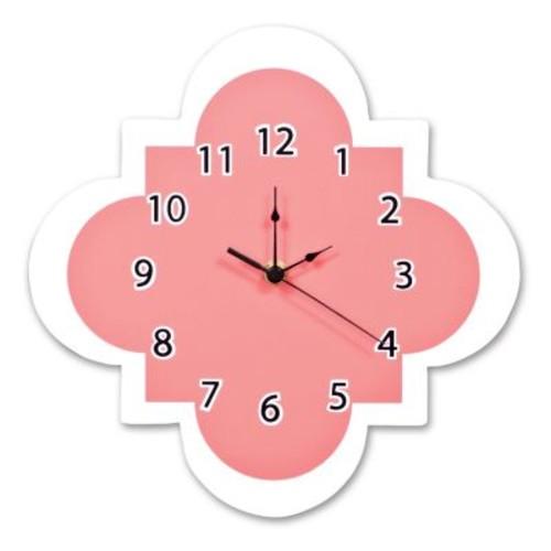 Trend Lab Quatrefoil Wall Clock, Coral [Coral]