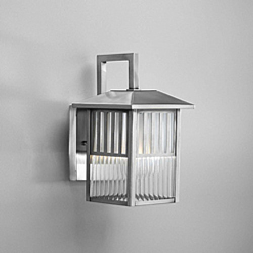 Tabo Silver Finish and Clear Glass Outdoor Wall Light