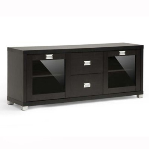 Baxton Studio Foley TV Stand in Dark Brown