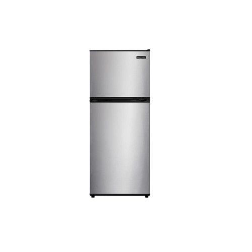 Magic Chef 24 in. W 9.9 cu. ft. Top Freezer Refrigerator in Stainless Steel