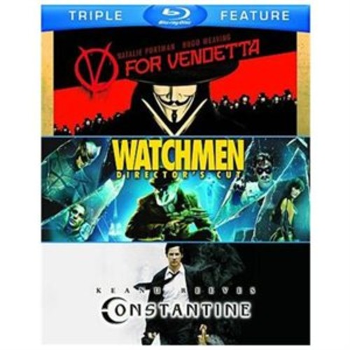 V For Vendetta/Watchmen/Constatine (Blu-Ray/Tfe/4 Disc)