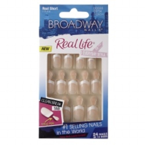 Broadway Nails Fast French Deceptions Glue-On Kit Short Length Conceal