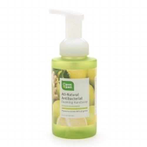 Cleanwell Natural Antibacterial Foaming Handsoap Ginger Bergamot 9.5oz.