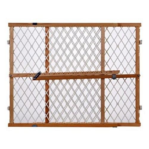 North States Wood Frame Diamond Mesh Pet Gate [White]