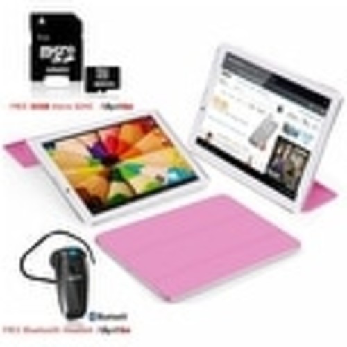 Indigi 7inch Factory Unlocked 2-in-1 Android 4.4 Smartphone + TabletPC w/ Built-in Smart Cover + Bundle Included(Pink) - Pink