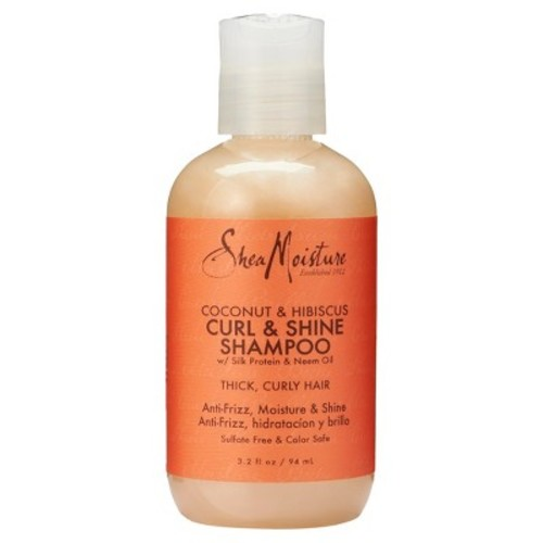 SheaMoisture's Coconut & Hibiscus Curl & Shine Shampoo Trial Size - 3.2 Fl Oz