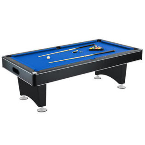 Hathaway Hustler 7' MDF Pool Table with Integral Ball Return System and Pedestal-Style Legs with Levelers