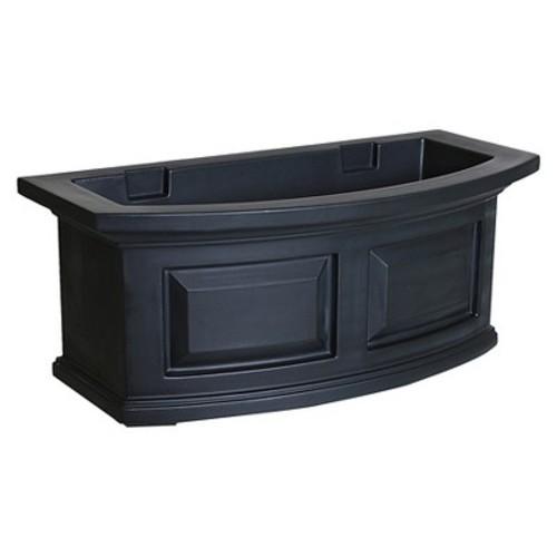 Mayne 4829-B Nantucket Polyethylene Window Box, 2' , Black [Black]