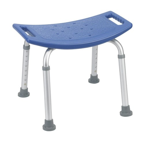 Drive Bathroom Safety Shower Tub Bench Chair without Back in Blue
