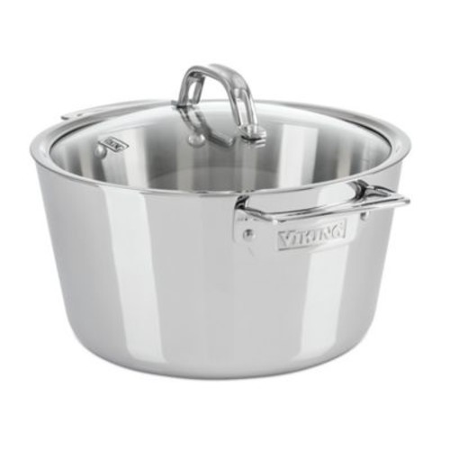 Viking Contemporary 5.2 Qt. Stainless Steel Round Dutch Oven