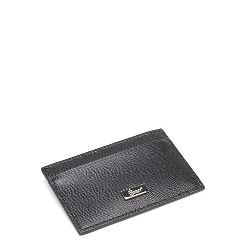 RFID Blocking Slim Credit Card Wallet in Saffiano Leather