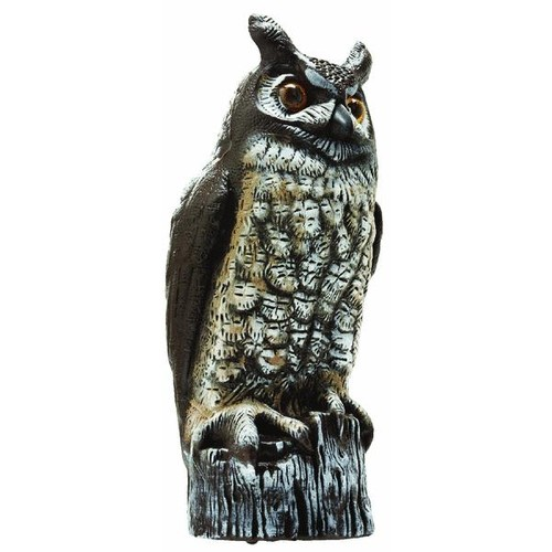 Gardeneer Natural Enemy Scarecrow Great Horned Owl Pest Deterrent Decoy - OW-6