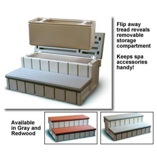 Confer Plastics Spa Step w/Storage - Redwood