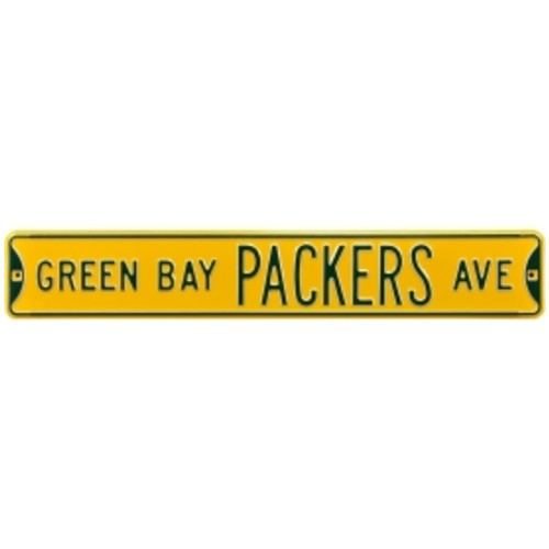 Authentic Street Signs Green Bay Packers Avenue Yellow Sign