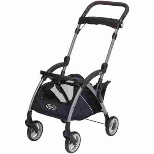 Graco SnugRider Elite Infant Car Seat Frame Stroller, Black Finish