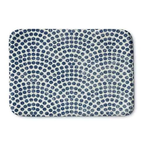 Kavka Designs Blue Sunrise Memory Foam Bath Mat