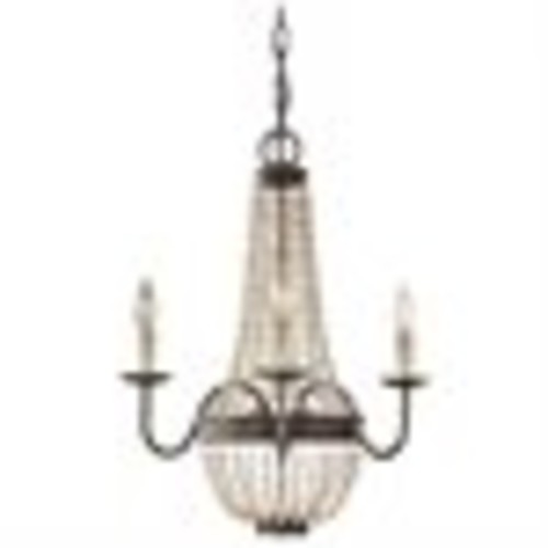 Feiss Charlotte Chandelier - 18.5W in. Peruvian Bronze