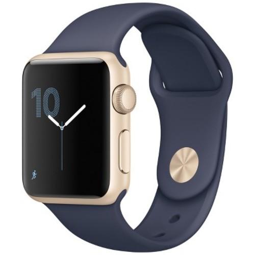 Watch Series 1 42mm Smartwatch (Gold Aluminum Case, Midnight Blue Sport Band)