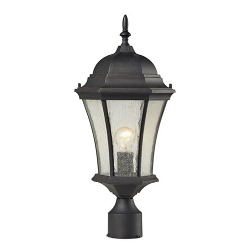 Wellington Park 1-Light Outdoor Post Lamp In Weathered Charcoal