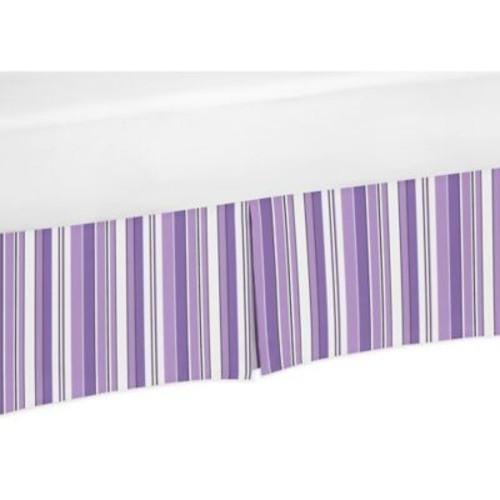 Sweet Jojo Designs Kaylee Striped Crib Skirt in Purple/Black