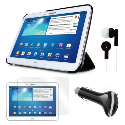 Mgear Accessories Samsung Galaxy Tab 3 Case Screen Protector, Earphones & Car Charger