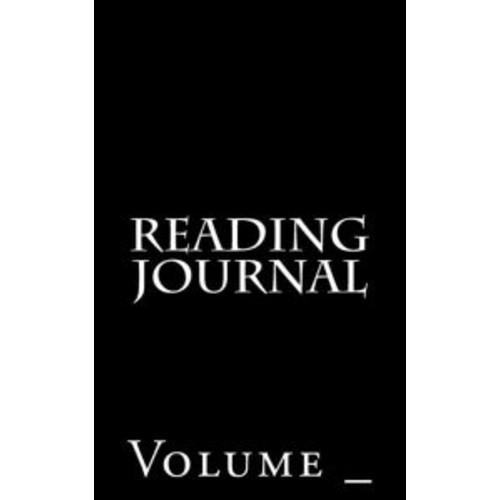 Reading Journal: Black Cover