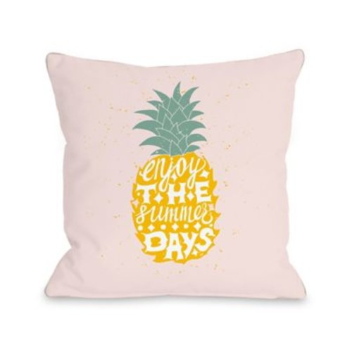 Ivy Bronx Tarragon Enjoy the Summer Days Throw Pillow; 16'' H x 16'' W x 3'' D