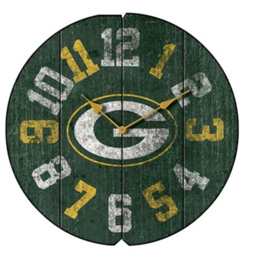 Imperial NFL 16'' Vintage Wall Clock; Green Bay Packers