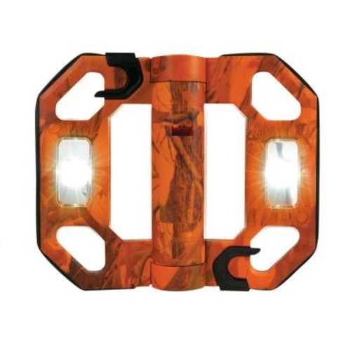 Might-D-Light 200-Lumen Mini Compact Folding LED Work Light - Orange