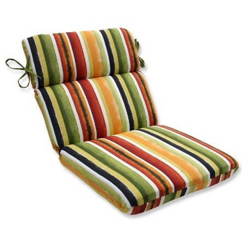 Pillow Perfect Dina Noir Outdoor One Piece Seat And Back Cushion - Multi-colored