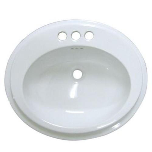 Kingston Brass Self-Rimming Bathroom Sink in White
