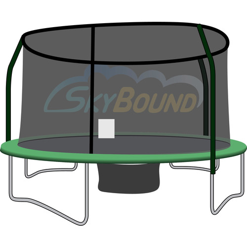 Skybound 15Ft Trampoline Net (Fits Jumpking, Bazoongi, Orbounder Brands With 4 Pole Enclosures Using Fiberglass G3 Top Rings) -Net Only